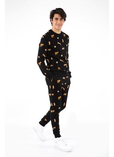 John Frank John Frank Siyah Pijama Alt Siyah